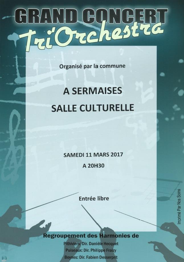 Affiche concert commune 2017